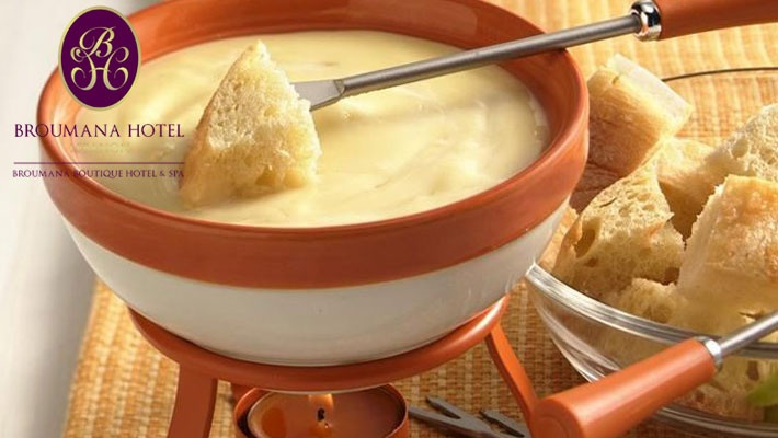 Cheese Fondue With Bottle Of Wine Gosawa Beirut Deal